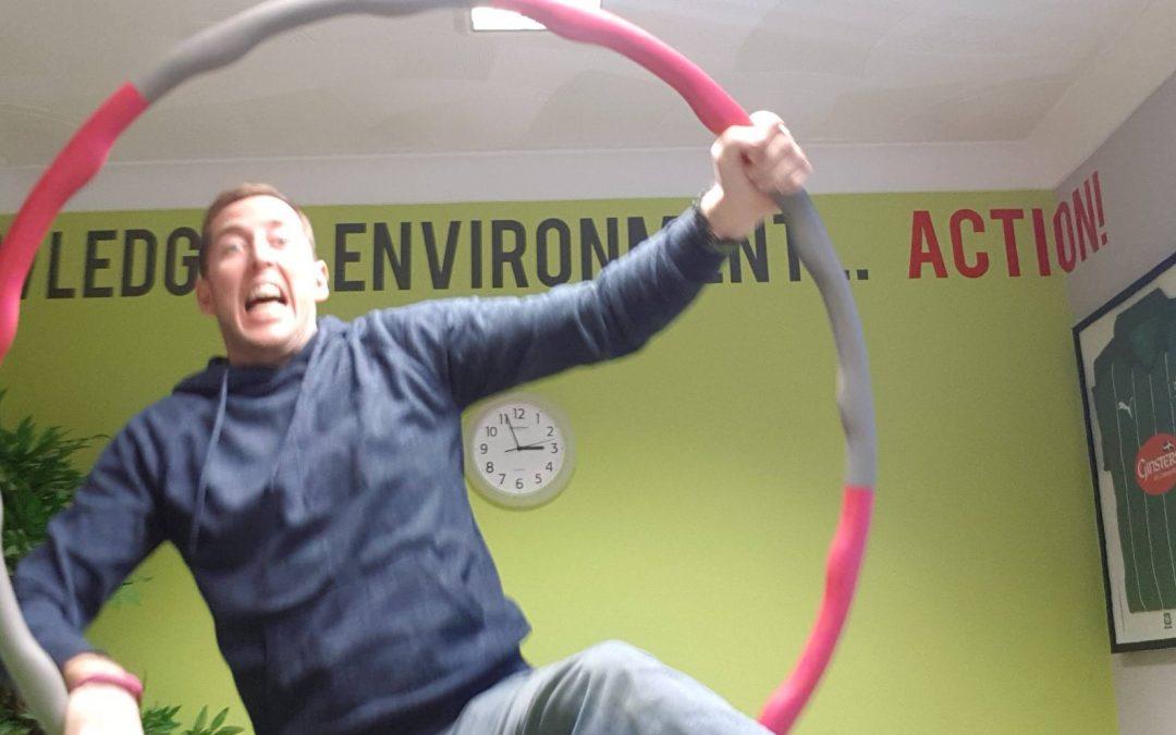 Hula-hooping for self confidence…